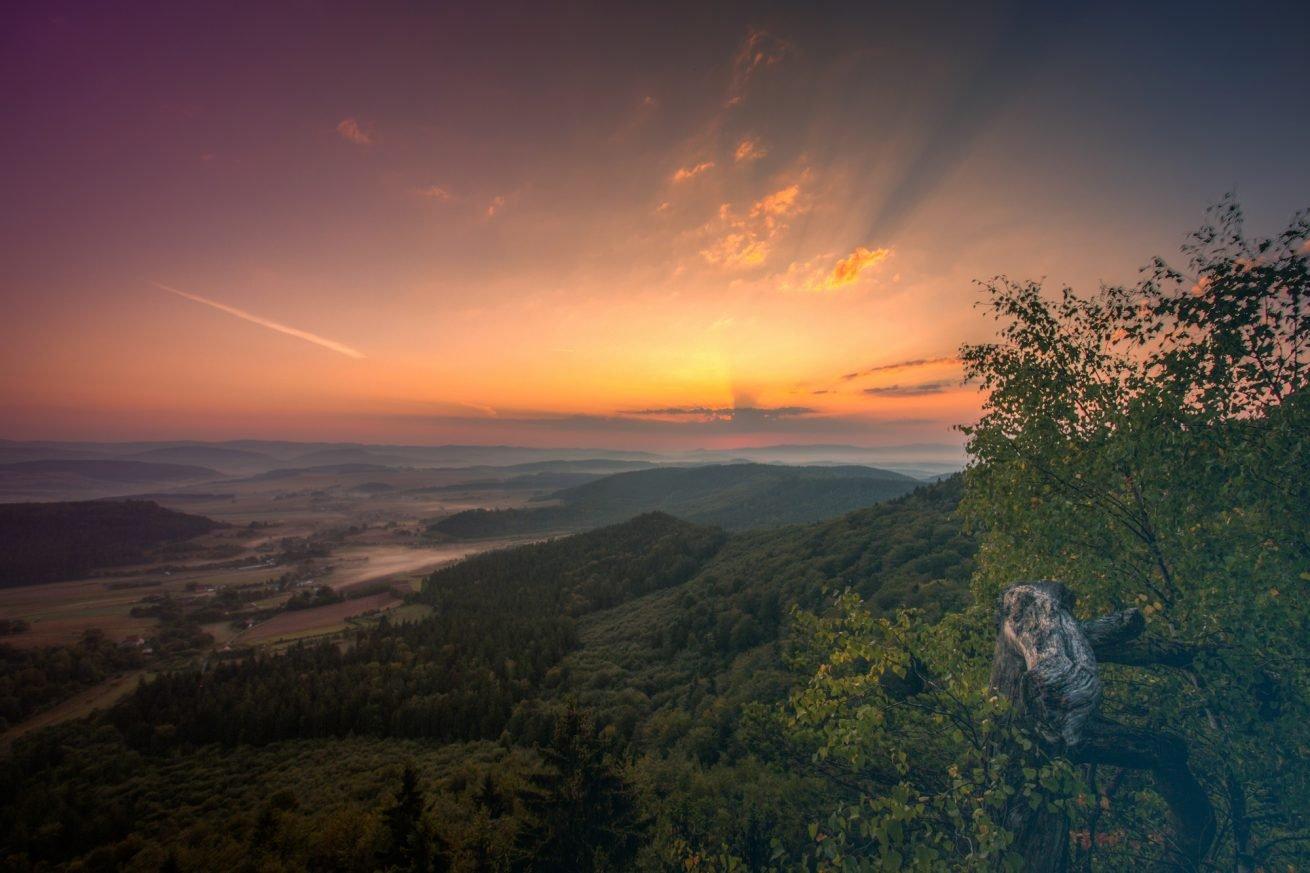 plener-wschód-zachód-słońca-sudety-góry-stołowe